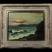 Vintage oil canvas painting by Austrian artist Albert Meindl 1891-1967