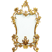 Antique French Baroque Rococo gilded bronze picture easel Frame