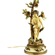 Art Nouveau figurine table lamp Collection Francoise