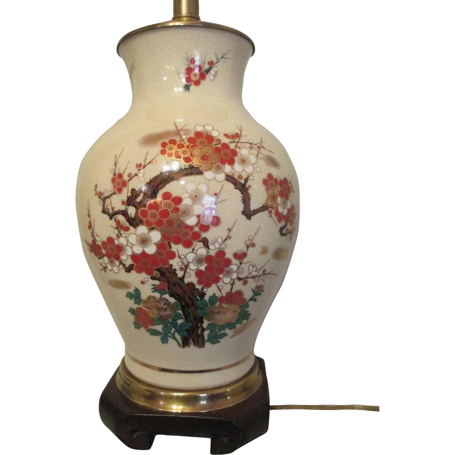 Frederick cooper satsuma large porcelain table lamp mid century frederick cooper satsuma large porcelain table lamp mid century super hand painted geotapseo Image collections