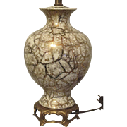 Porcelain Table Lamp by White Lamp Company New York
