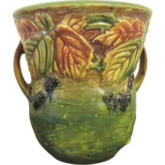 Vintage Roseville Blackberry Pottery Vase / Jar