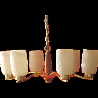Vintage Danish Modern Ceiling Fixture Outstanding Example Of MID-CENTURY Modern Lighting.
