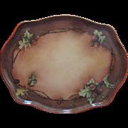 Limoges Platter  Large  Porcelain Hand  Painted