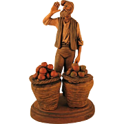 Terracotta Sculpture Italy  Artist Signed & Hand Painted- Known Sculptor