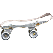Antique German Dresden Roller Skate Christmas Ornament