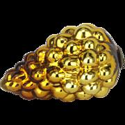 Antique German Large Gold Grape Kugel Christmas Ornament ca1890
