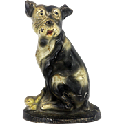 Antique Cast Iron Dog Doorstop ca1900