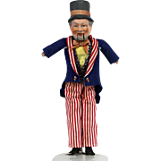 Antique German Uncle Sam Mechanical Doll ca1900