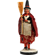 Antique German Halloween Witch Candy Container ca1915