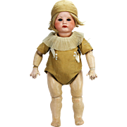 """Antique Rare Large Size 20"""" French SFBJ 252 Bisque Character Doll"""