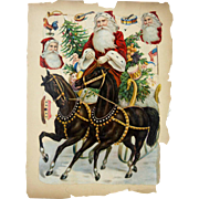 Antique German Unusually Large Santa Die Cut