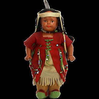 Antique Madame Hendren Native American Indian Doll ca1916