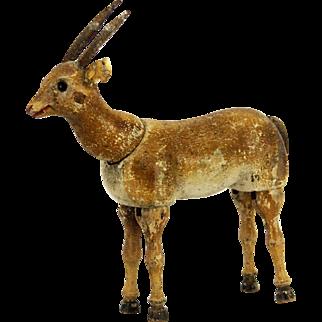 Antique Rare Schoenhut Gazelle with Glass Eyes ca1909