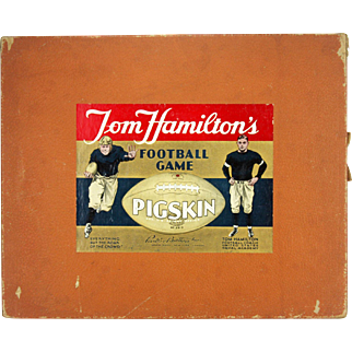 Vintage Tom Hamilton's Pigskin Football Board Game ca1935