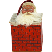 Antique German Santa in Chimney Candy Container ca1910