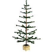 """Antique German Large 45"""" Feather Christmas Tree ca1910"""