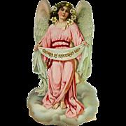 Antique Large German Die Cut Christmas Angel ca1910