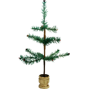 """Antique German Feather Christmas Tree 18"""" ca1910"""
