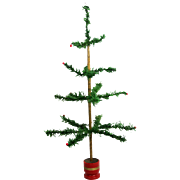 """Antique German Christmas Feather Tree 26"""" ca1920"""