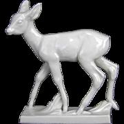 Antique Meissen Porcelain Deer Figurine ca1850
