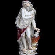 Antique Meissen Porcelain Winter Figurine ca1850