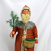 Antique Large German Wind Up Santa Nodder ca1910