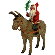 Antique German Santa on Donkey Candy Container ca1910