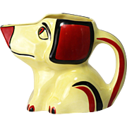 Antique Rare Czech Ditmar Art Deco Dog Pitcher ca1920