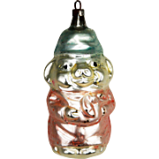 Antique German Blown Glass Pig Christmas Ornament ca1910