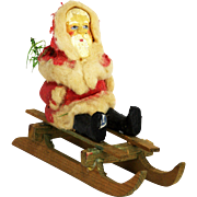 Antique German Santa Candy Container on Sled ca1900