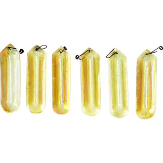 Antique Tiffany Studios Iridescent Gold Favrile Prisms ca1910