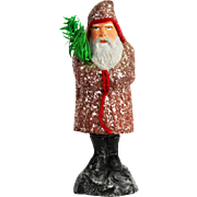 Antique German Belsnickle Santa Candy Container ca1910