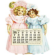 Antique Advertising Hood's Sarsaparilla Proverb Calendar ca1900