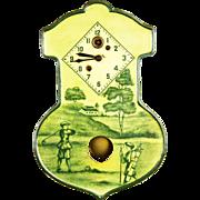 Vintage Lux Golfer Pendulette Clock ca1930