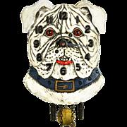 Vintage Lux Bulldog Pendulette Clock ca1935