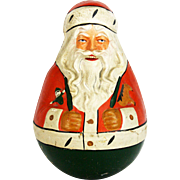 Antique Schoenhut Roly Poly Santa with Original Tag ca1915
