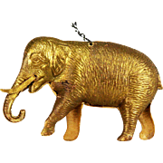 Antique Rare German Dresden Gold Elephant Christmas Ornament ca1910