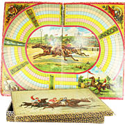 Antique French Horse Racing Board Game ca1890