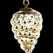 Antique German Silver Grape Glass Kugel Ornament ca1900