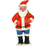 Vintage German Paper Mache Santa Candy Container ca1920