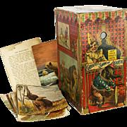Antique Victorian Rare McLoughlin Bros Circus Carnival Reflector Viewing Box Toy