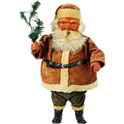 Vintage German Paper Mache Jolly Santa Candy Container ca1920