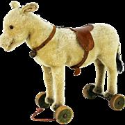 Vintage Steiff Donkey Pull Toy ca1920