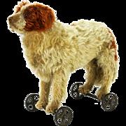 Antique Steiff St. Bernard Dog Pull Toy ca1910