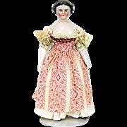 Antique German Miniature China Doll ca1880