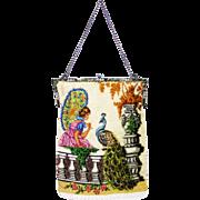 Vintage Micro Beaded Purse Hand Bag ca1920