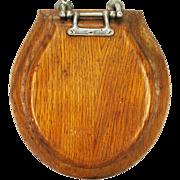 Antique Knott Atlas Oak Wood Salesman Sample Toilet Seat