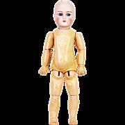 "Antique German Bisque Head Doll 16"" ca1880"