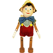 Vintage Pinocchio Jointed Wood Doll Richard Krueger ca1940